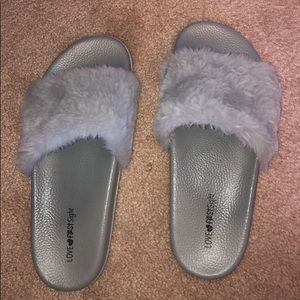 Slides with fur